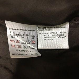 MaxMara Jackets & Coats - MAX MARA Brown Virgin Wool Cardigan Jacket Blazer